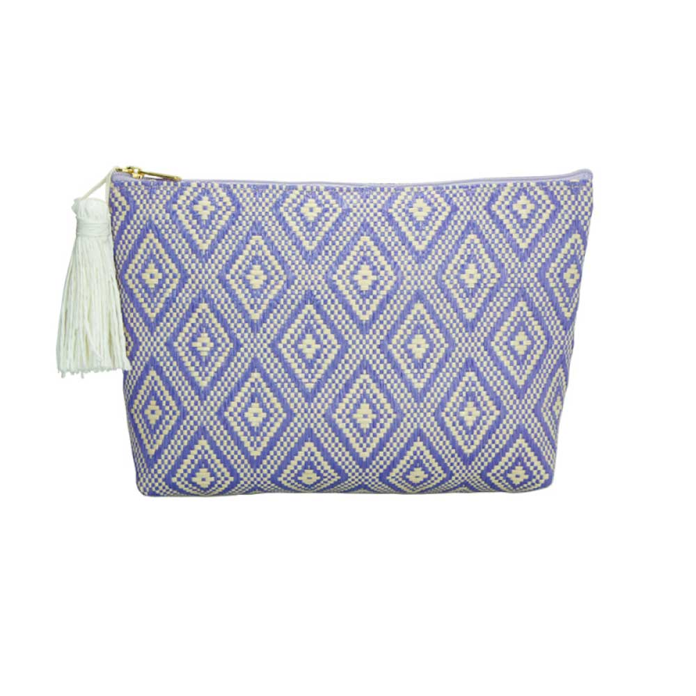 Tinted Colour Cosmetic Bag Blue Pattern
