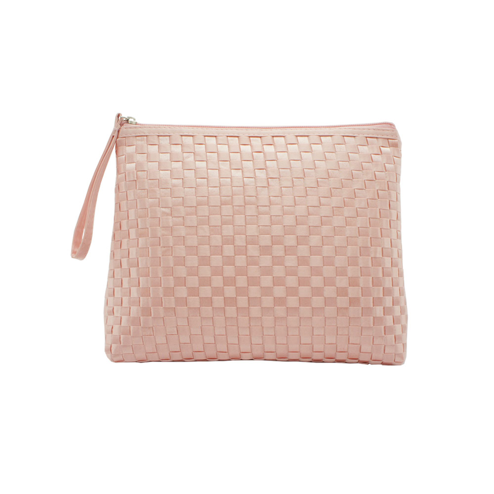 Tinted Colour Cosmetic Bag Pink